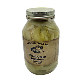 Sliced Green Tomatoes (For Frying-32 ounce jar)