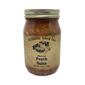 Peach Salsa (MEDIUM- 16 ounce jar)