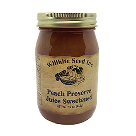 Peach Preserves Juice Sweetened (16 ounce jar)
